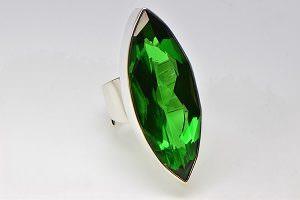 Grüner Obsidian Ring